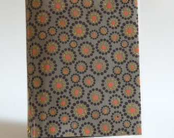 Paperback Book Cover - Reusable, Protective and Adjustable - Small Mass Market Size - Stylish Book Cover with Red & Gold Glitter Dot Design