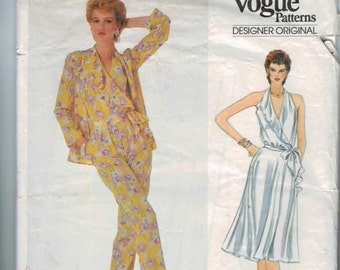 1980s VIntage Sewing Pattern Vogue Designer Original 2930 Bellville Sassoon Jacket Skirt Pants Blouse Size 14 Bust 36 UNCUT 80s