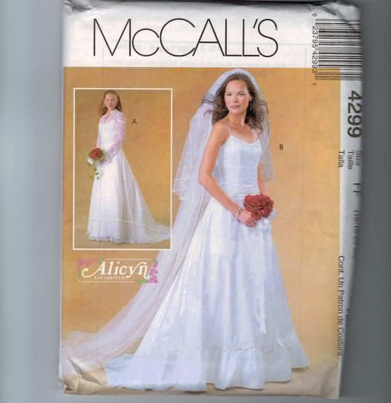 Misses sewing pattern mccalls 4299 alicyn by for Lace wedding dress patterns to sew