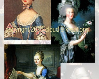 Marie Antoinette Digital Collage Sheet 1