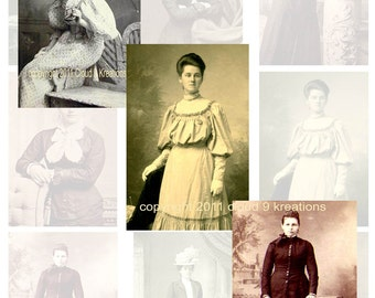 Victorian Woman...Vintage Photos...Digital Collage Sheet