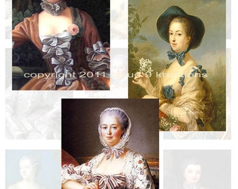 Madame Pompadour...Digital Collage Sheet - French, France, Lady