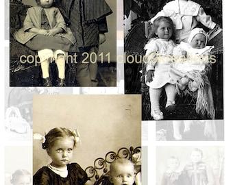 Victorian Children...(Group)...Vintage Photos...Digital Collage Sheet 1