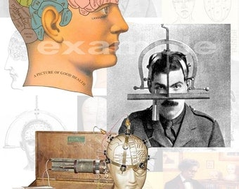 Phrenology...Early Medical Practice...Digital Collage Sheet