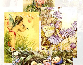 Little Fairies Digital Collage Sheet 3