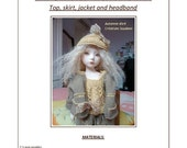 "41. English and  French INSTANT DOWNLOAD PDF knitting Pattern13"" dolls Little Darling, Narsha"