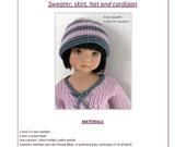 "40. English and  French INSTANT DOWNLOAD PDF knitting Pattern13"" dolls Little Darling, Narsha, Zihu"