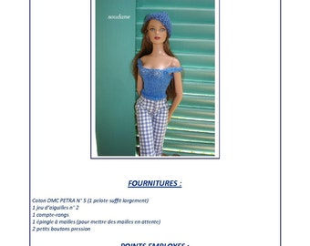 "3. Only  French INSTANT DOWNLOAD PDF knitting Pattern pour Tonner 16"" doll"