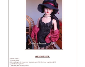 11.  Only  French INSTANT DOWNLOAD PDF knitting Pattern pour Tonner fashion dolls 16""