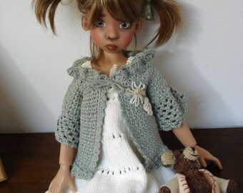 42. English and French PDF KNITTING PATTERN (2 are available) for bjd msd Kaye Wiggs dolls 18""