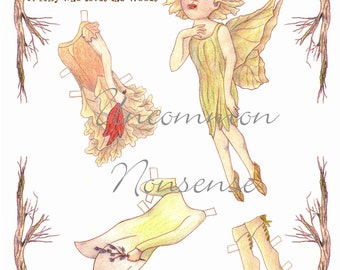 Astrid, a Forest Fairy Paper Doll