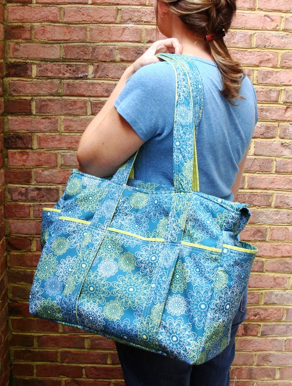 XL Diaper Bag Tote --- Crafted from your choice of designer fabric