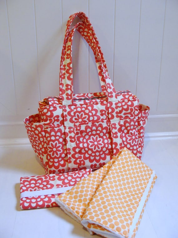Large Custom Diaper Bag Set for Twins --- Crafted from your choice of designer fabric