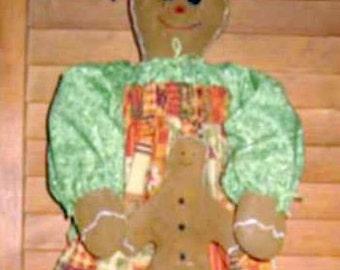 Gingerbread Bag Doll Holder E Pattern, PDF, Downloadable Digital Pattern