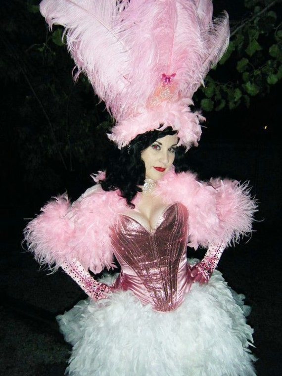 Pink Feather Showgirl Headdress. Costume Accessory, Feather Head Dress, Burlesque, Viva Las Vegas