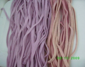 78 Hand  Dyed Wool Rug Hooking Strips    Lt. Lavender ONLY
