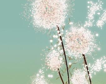 Dandelion Art - Perennial Moment - 8x10 Print