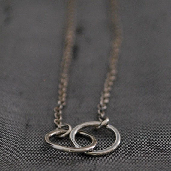 Soulmates Necklace handmade in sterling silver
