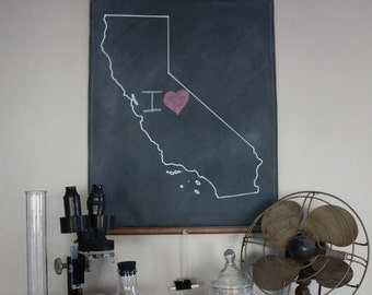 Chalkboard State Maps // State Map Decor // 50 states // California // Colorado // Connecticut // Delaware // Florida // Georgia // Hawaii