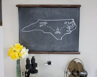 Chalkboard State Maps // Custom State Map Art // 50 states // Virginia // Nebraska // Louisiana // Kentucky // Kansas // Iowa // Michigan