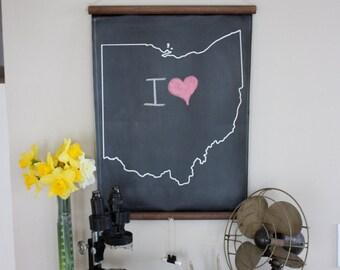 Chalkboard State Maps // Custom State Map Decor // 50 states // Ohio // Washington // New Jersey // Michigan // Missouri // Montana