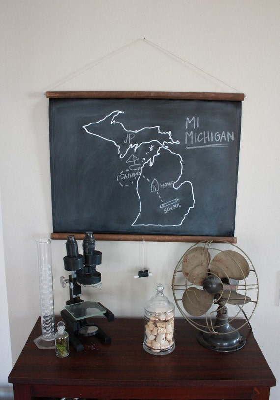 Chalkboard State Maps // Custom State Map Decor // 50 states // Maine // Maryland // Massachusetts // Michigan // Minnesota // Mississippi