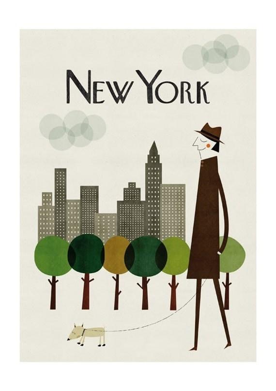 new york print. Black Bedroom Furniture Sets. Home Design Ideas