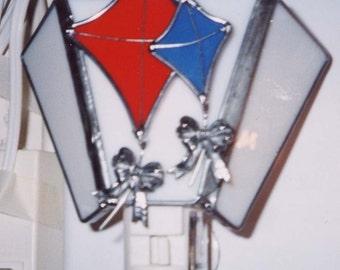 Kite Night light - Flying Kites Night light - Stained Glass Night light - Kite Nightlight