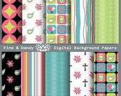 Instant Download--Fine & Dandy Whimsical Digital Papers