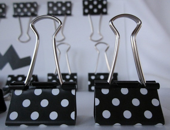 "Binder Clips - ""Classic Polka Dots"""