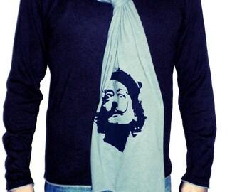 dali raw edge scarf