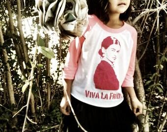viva la frida girl raglan shirt