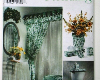 Simplicity Home Decorating 7183 Pattern Bathroom Accessories. Shower Curtain  Ensemble, Sink Skirt, Hamper