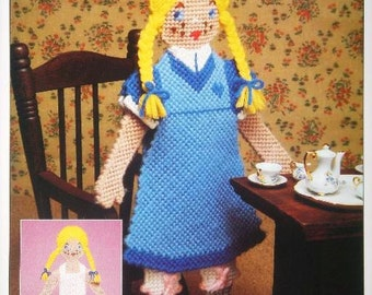 Clara Doll Plastic Canvas Pattern with Free Shipping