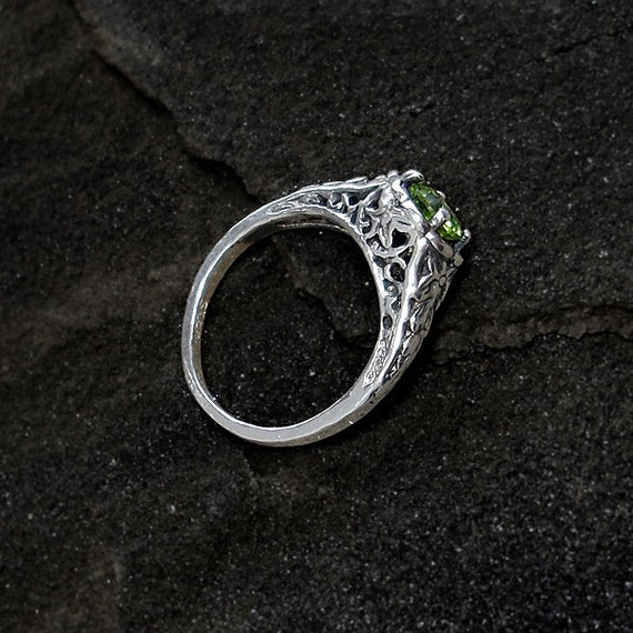 sterling peridot ring sterling silver and genuine peridot