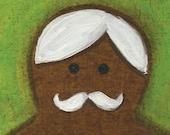 Gingerbread Man Painting Art Print