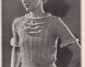 Vintage Lacy Jumper Knitting Pattern PDF From 1936 34 Bust