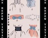 Vintage Sewing Pattern 1940's Style Belts and Cummerbunds Printable PDF Size Medium Depew 1008 -INSTANT DOWNLOAD-