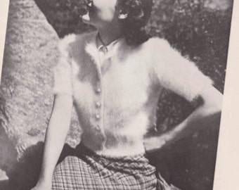 Vintage Knitting Pattern Booklet 1950's Angora Hand Knit Fashions PDF -INSTANT DOWNLOAD-