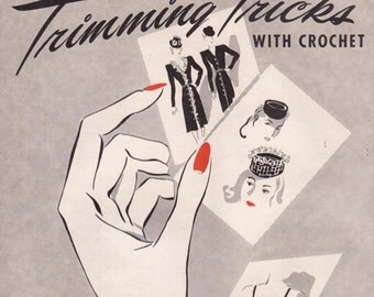 Vintage Crochet Booklet With Patterns for Edgings and Lingerie Trimming Tricks Digital PDF -INSTANT DOWNLOAD-