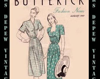Vintage Pattern Catalog Booklet Butterick Fashion News August 1947 Pattern Booklet PDF -INSTANT DOWNLOAD-