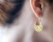 Gold Filigree Earrings, Gypsy Earrings, Victorian Earrings, Gold Earrings, Bride Earrings, Lace Earrings, Large Earrings, Boho Earrings Gold