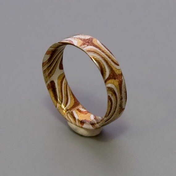 Mokume Gane Ring Mens Mokume Band Womens Mokume By