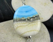 "Lampwork art glass pendant - ""Constantine Bay"" - FHFTeam Y3, GBUK, SRA"