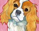 Cavalier King Charles Spaniel No. 1 - magnets, coasters and art prints