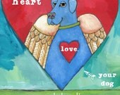 Dog Sympathy Card No. 1 - Cards, Magnets, Art prints & coasters