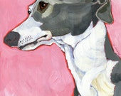 Italian Greyhound No. 3 - magnets, coasters and art prints