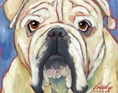 Bulldog No. 2 - magnets, coasters and art prints
