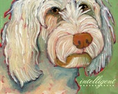 Goldendoodle No. 1 - magnets, coasters and art prints