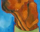 Coonhound No. 3 - Redbone three art print sizes